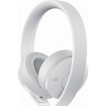 Sony - Gold Wireless Stereo Headset for PlayStation®4, PlayStation®VR, Mobile Devices and Select PCs - White