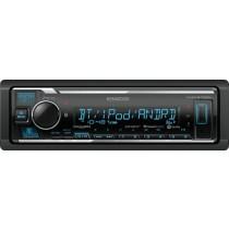 Kenwood - In-Dash Digital Media Receiver - Built-in Bluetooth - Satellite Radio-ready with Detachable Faceplate - Black