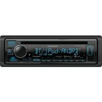 Kenwood - In-Dash CD/DM Receiver - Built-in Bluetooth - Satellite Radio-ready with Detachable Faceplate KDC-BT375U - Black