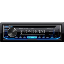 JVC - In-Dash CD Receiver - Built-in Bluetooth - Satellite Radio-Ready with Detachable Faceplate KD-T700BT - Black