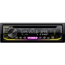 JVC - In-Dash CD Receiver - Built-in Bluetooth - Satellite Radio-Ready with Detachable Faceplate KD-T900BTS - Black