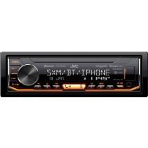 JVC - In-Dash Digital Media Receiver - Built-in Bluetooth - Satellite Radio-Ready with Detachable Faceplate - Black
