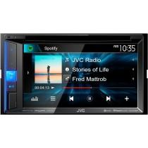 "JVC - 6.2"" - Built-in Bluetooth - In-Dash DVD Receiver - Black"