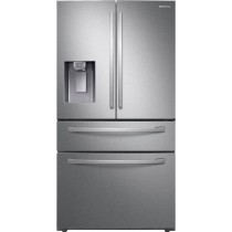 Samsung 22.6 cu. ft. 4-Door French Door Counter Depth Refrigerator with FlexZone Drawer Stainless Steel (w/Kit)
