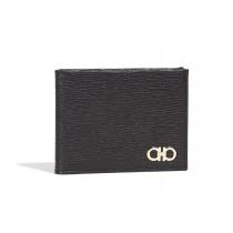 Salvatore Ferragamo Revival Gancini Bi-Fold Wallet, Black
