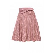 Mid-Length Ethnic Maxi Skirt Maroon