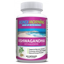 Ashwagandha Capsules with Black Pepper for Increased Absorption - 1300 mg 60 Capsules