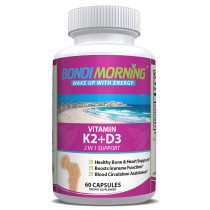 Vitamin K2 + D3 Supplement for Bone & Heart Health - 5000IU/100mg 60 Vegan Capsules