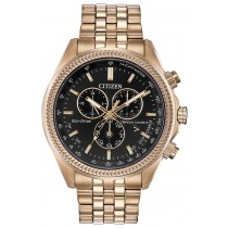 Citizen Men's Eco-Drive Brycen Watch, Rose Gold-tone with Black Dial