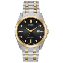 Citizen Men's Eco-Drive Corso Watch, Two-tone with Black Dial