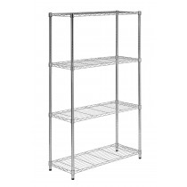 Honey Can Do 4-Tier Heavy Duty Adjustable Storage Shelves, Chrome