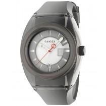 Gucci Men's Swiss Gucci Sync Black Transparent Rubber Strap Watch 46mm
