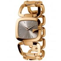 Gucci Women's Swiss G-Gucci Gold-Tone PVD Stainless Steel Bracelet Watch 24x22mm YA125511