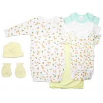 Bambini Neutral Newborn Baby 7 Pc Layette Baby Shower Gift Set