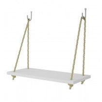 "Manhattan Comfort Uptown 1.0 - 17.52"" Rope Swing Shelf in White"