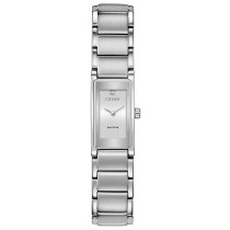 Citizen Ladies' Eco-Drive Axiom Diamond Tank Watch, SS with Silver Dial