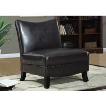 Monarch Oversized Armless Accent Chair - Dark Brown