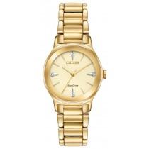 Citizen Ladies' Eco-Drive Axiom Diamond Watch, Gold-tone