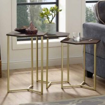 Hex Nesting Tables, Set of 3
