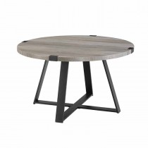 "30"" Metal Wrap Round Coffee Table"