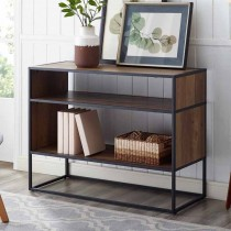 """40"""" Metal and Wood Storage Console - Rustic Oak"""