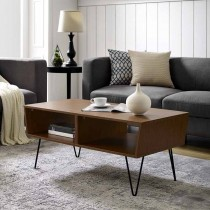 """42"""" Angled Coffee Table with Hairpin Legs"""