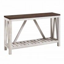 """52"""" A-Frame Rustic Entry Console Table"""