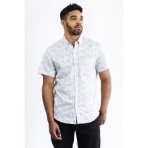 White/Gray Micro Print Shirt