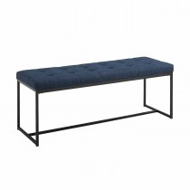 """48"""" Upholstered Bench with Metal Base"""