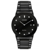 Citizen Men's Axiom Eco-Drive Watch, Black Ion Stainless Steel with Black Dial