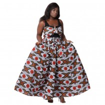 Ethnic Print Long Maxi Skirt