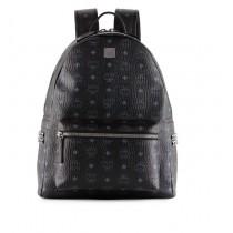MCM Stark Small Side Stud Backpack Black