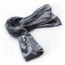 Blando Graceful Black & White Plover Design Silk Scarf/Wrap/Shawl