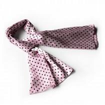 Blando Pink Background Small Cute Black Dot Design Soft Silk Scarf/Wrap/Shawl