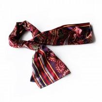 Blando Purple Chic Paisley & Stripes Design Fashion Soft Silk Scarf/Wrap/Shawl