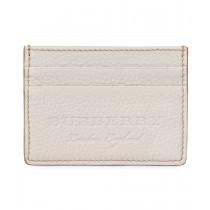 Burberry Sandon Light Grey Grained Leather Card Holder