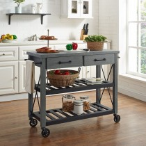 Crosley Roots Rack In Gray Finish