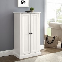 Crosley Seaside Accent Cabinet Distressed White