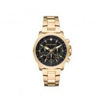 Michael Kors Men's Gold-Tone Theroux Black Dial Watch - Gold MK8642