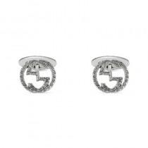 Gucci Interlocking Cufflinks G Motif Sterling Silver