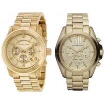 Michael Kors Gold His & Hers Watch Set
