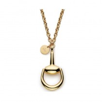 Gucci Horsebit 18K Yellow Gold Pendant Necklace