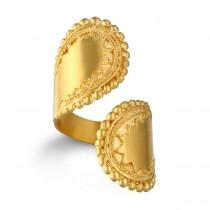 Gold Wrap Ring Adjustable