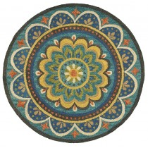 Dazzle Blooming Medallion Indoor Area Rug