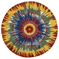 Dazzle Hippie Medallion Indoor Area Rug