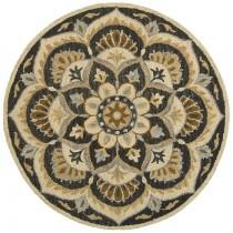 Dazzle Charcoal Floret Area Rug