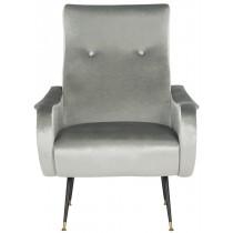 Elicia Velvet Retro Mid Century Accent Chair by Safavieh