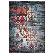 Fusion Distressed Geometric Indoor Area Rug