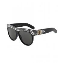 Gucci GG0147S 001 56 Oversized Sunglasses