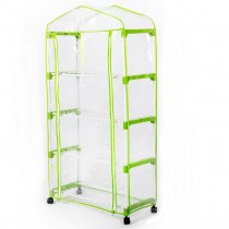 """Sundale Outdoor 4 Tier 4 Shelf Steeple Green House with PVC Cover, 26.9""""(L) x 11.9""""(W) x 58.2""""(H)"""